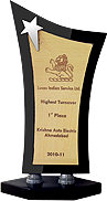 1st Place Lucas Indian Service Ltd. Highest Turnover Krishna Auto Electric Ahmedabad 2010-11